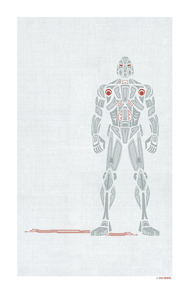 """Alpha & Omega Ultron"" by Jeffrey Veregge - Hero Complex Gallery"