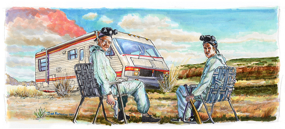 """Walt and Jesse"" by Jim Ferguson - Hero Complex Gallery"