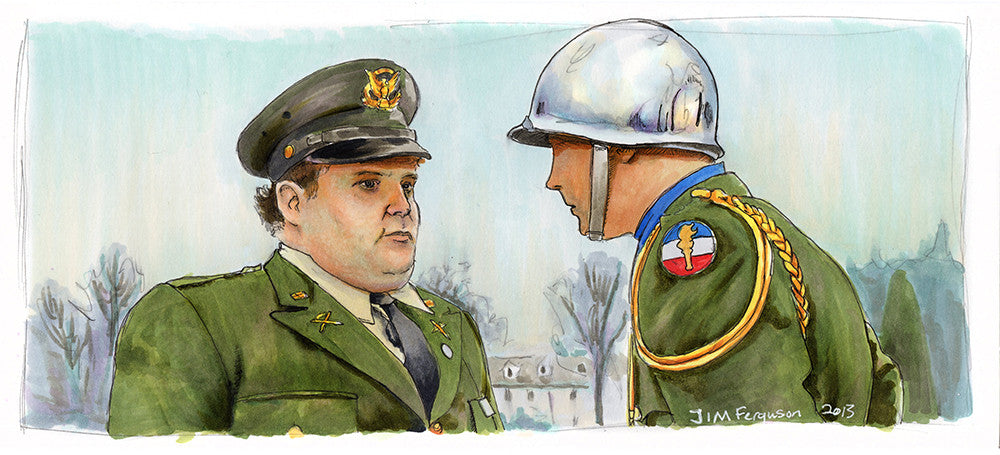 """What is that on your uniform?"" by Jim Ferguson - Hero Complex Gallery"