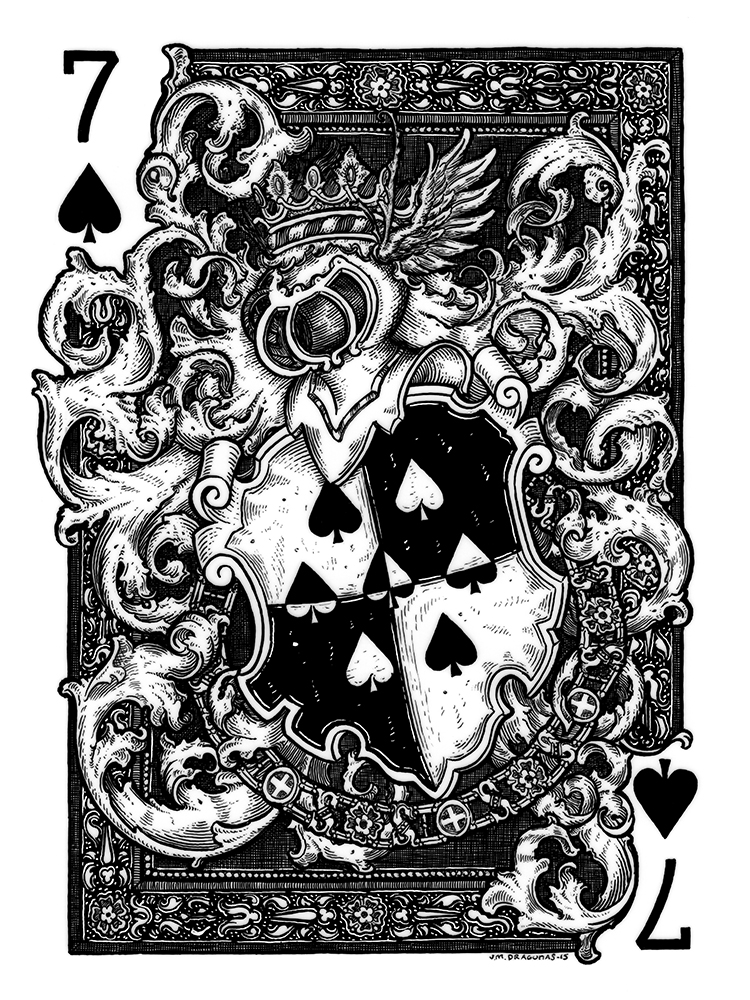7 of Spades Original by JM Dragunas