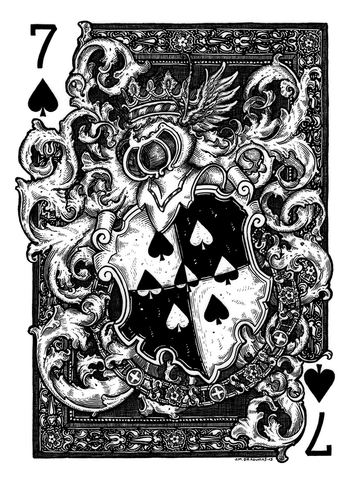 7 of Spades Original by JM Dragunas - Hero Complex Gallery