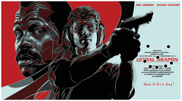 """Lethal Weapon"" Variant by Joe Vetoe - Hero Complex Gallery"