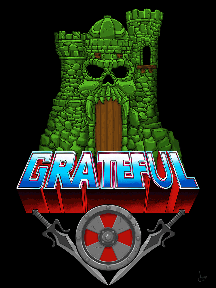 """Grateful for Grayskull"" by Joey Spiotto - Hero Complex Gallery"