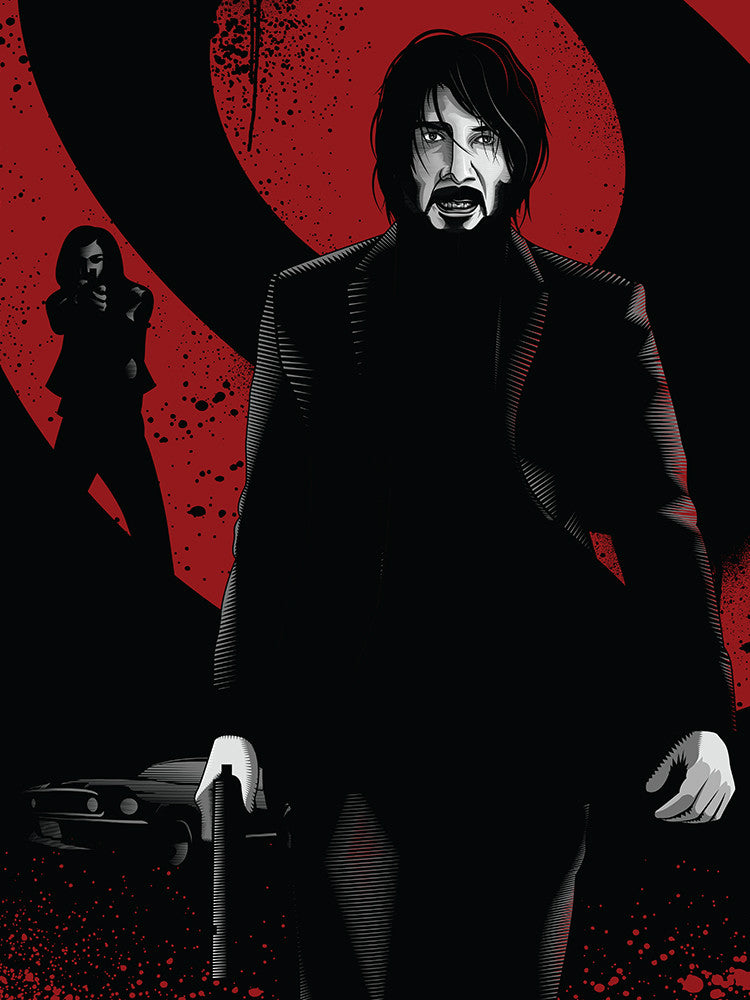 """John Wick Hunts the Boogie Man"" Red Variant by Payback Penguin - Hero Complex Gallery"