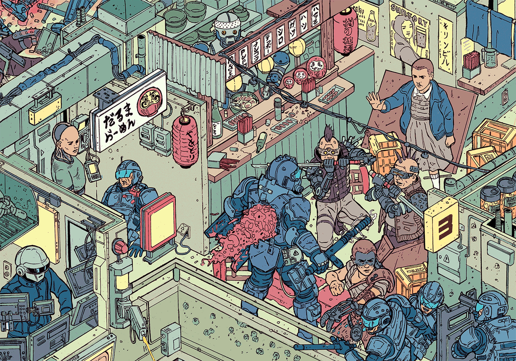 """The Raid"" – Section 4 by Josan Gonzalez & Laurie Greasley - Hero Complex Gallery"