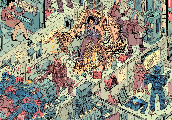 """The Raid"" – Section 6 by Josan Gonzalez & Laurie Greasley - Hero Complex Gallery"