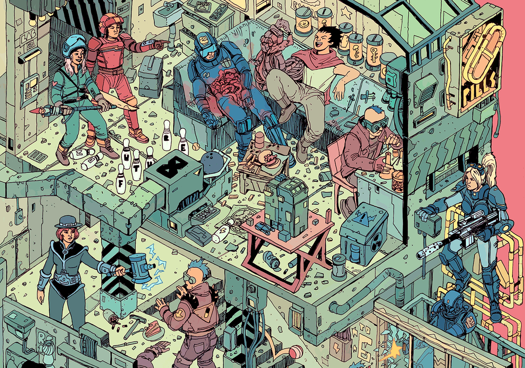"""The Raid"" – Section 8 by Josan Gonzalez & Laurie Greasley - Hero Complex Gallery"