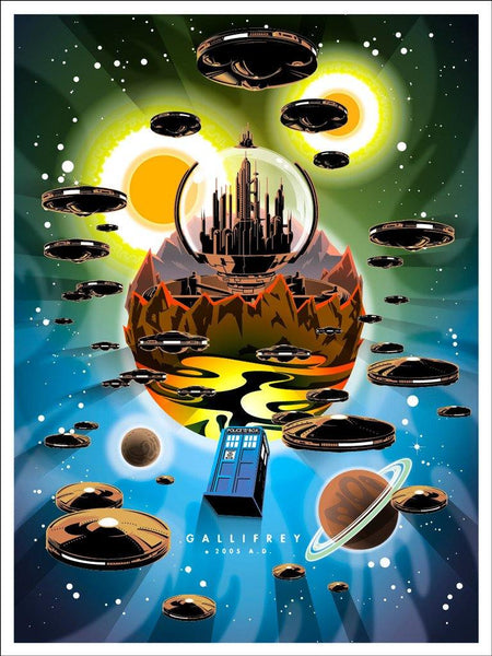 """Gallifrey"" by Joshua Budich - Hero Complex Gallery"