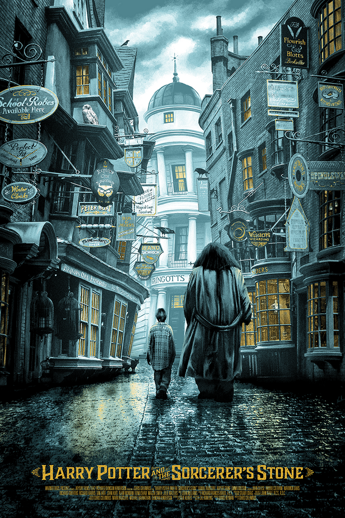 """Harry Potter and the Sorcerer's Stone"" Illuminated Variant by Kevin M Wilson (Ape Meets Girl) - Hero Complex Gallery"