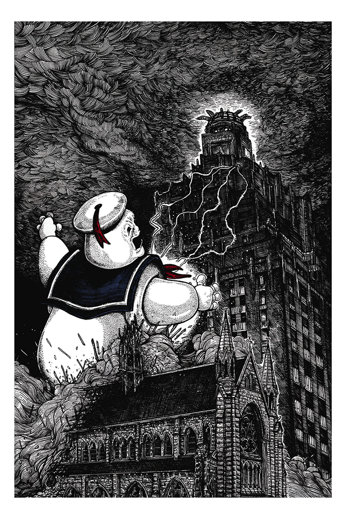 """Mr. Stay Puft"" by Liam Atkin - Hero Complex Gallery"