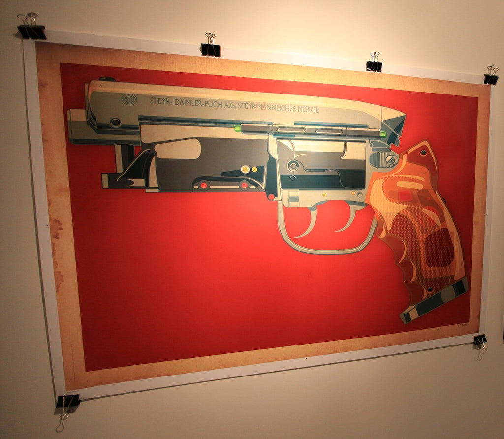 """LAPD 2019 Blaster Large"" by Jakob Staermose $160 - SOLD OUT - Hero Complex Gallery"