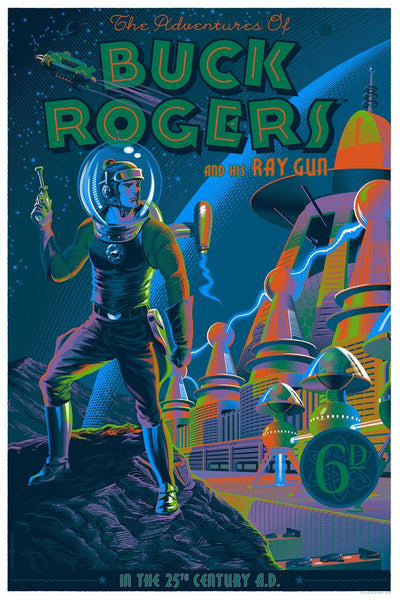 """Buck Rogers and his Ray Gun"" Variant by Laurent Durieux $75.00 - SOLD OUT - Hero Complex Gallery"