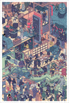 """The Raid 3: Scourge of the Machines"" Giclee by Laurie Greasley"""