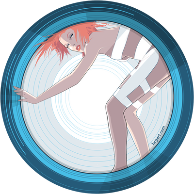 """Leeloo"" Sticker by Craig Drake"