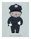 """Let's Play Cops"" by Isaac Bidwell - Hero Complex Gallery"