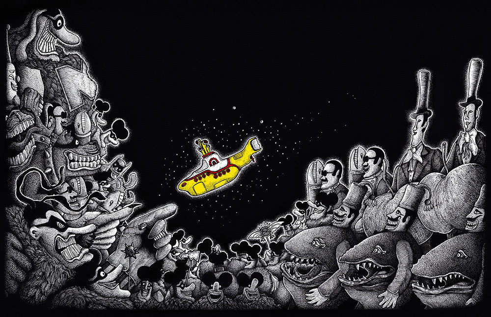 """We all live in a yellow submarine"" Original by Liam Atkin - Hero Complex Gallery"