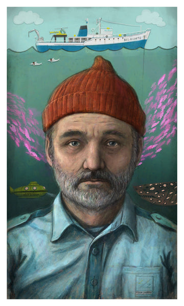 Starring Bill Murray as...Steve Zissou by Matthew Rabalais - Hero Complex Gallery
