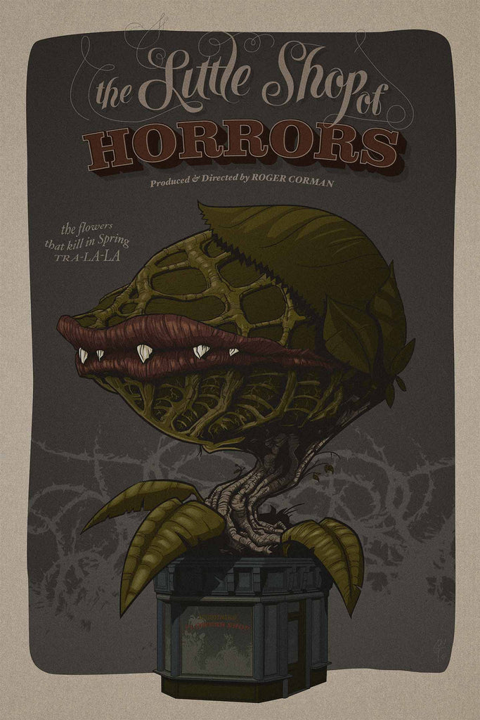 """Little Shop Of Horrors"" by Thibault Guével $49.00 - SOLD OUT - Hero Complex Gallery"