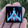 """Galaga"" Glow in the Dark Pin by Little Shop of Pins"