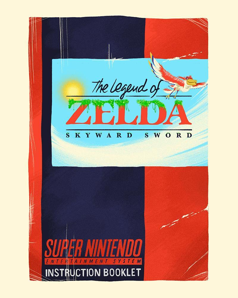 """SNES Zelda #2: Skyward Sword"" by Lyndon Willoughby - Hero Complex Gallery"