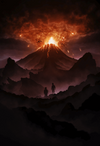 """Fires of Mount Doom"" by Marko Manev - Hero Complex Gallery"