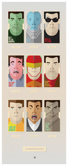 """Schwarzenegger Trading Cards"" by Matt Needle - Hero Complex Gallery"