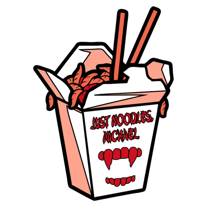 """Just Noodles, Michael"" Pin by Matt Ryan Tobin - Hero Complex Gallery"