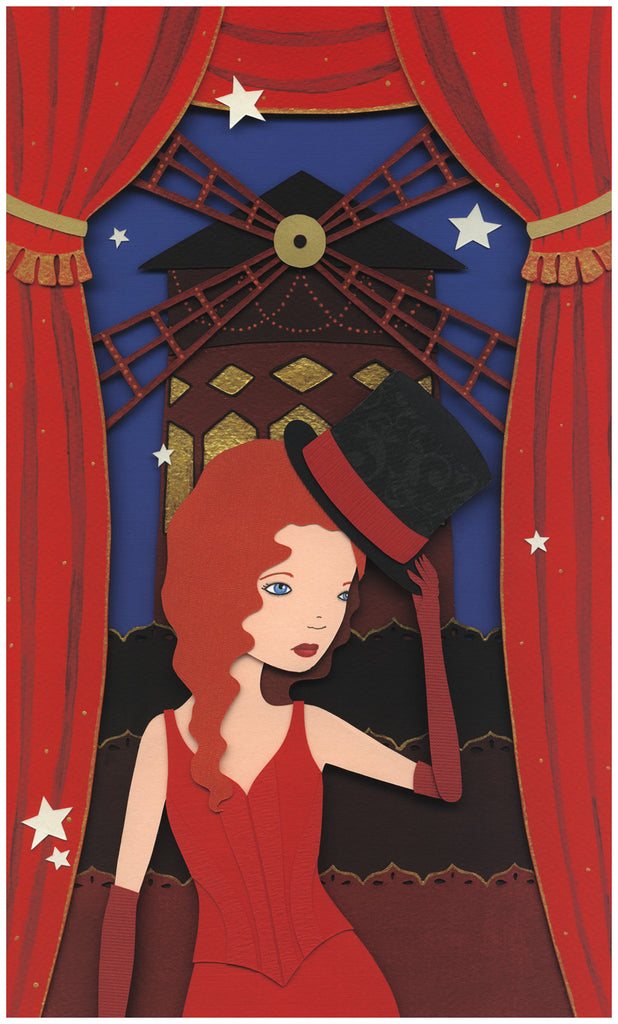 """Moulin Rouge"" by Meghan Stratman $380.00 - SOLD OUT - Hero Complex Gallery"
