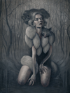 "Queen of Clubs: ""Shapeshifter"" Original by Mandy Tsung - Hero Complex Gallery"