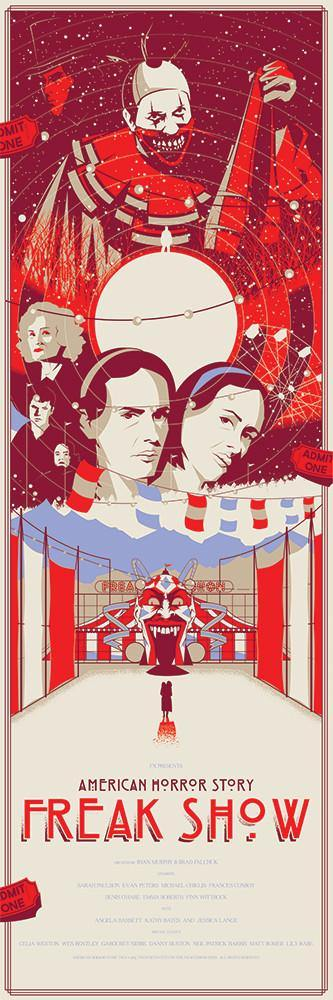 """American Horror Story - Freak Show"" Variant by Marinko Milosevski - Hero Complex Gallery"