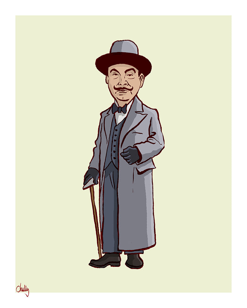 """The Good Guys: Poirot"" by Mark Chilcott - Hero Complex Gallery"