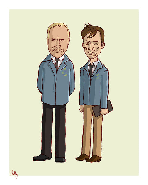 """The Good Guys: Hart & Cohle"" by Mark Chilcott - Hero Complex Gallery"