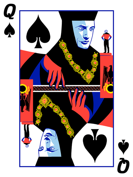 "Queen of Spades: ""Q of Spades"" by Mark Englert - Hero Complex Gallery"