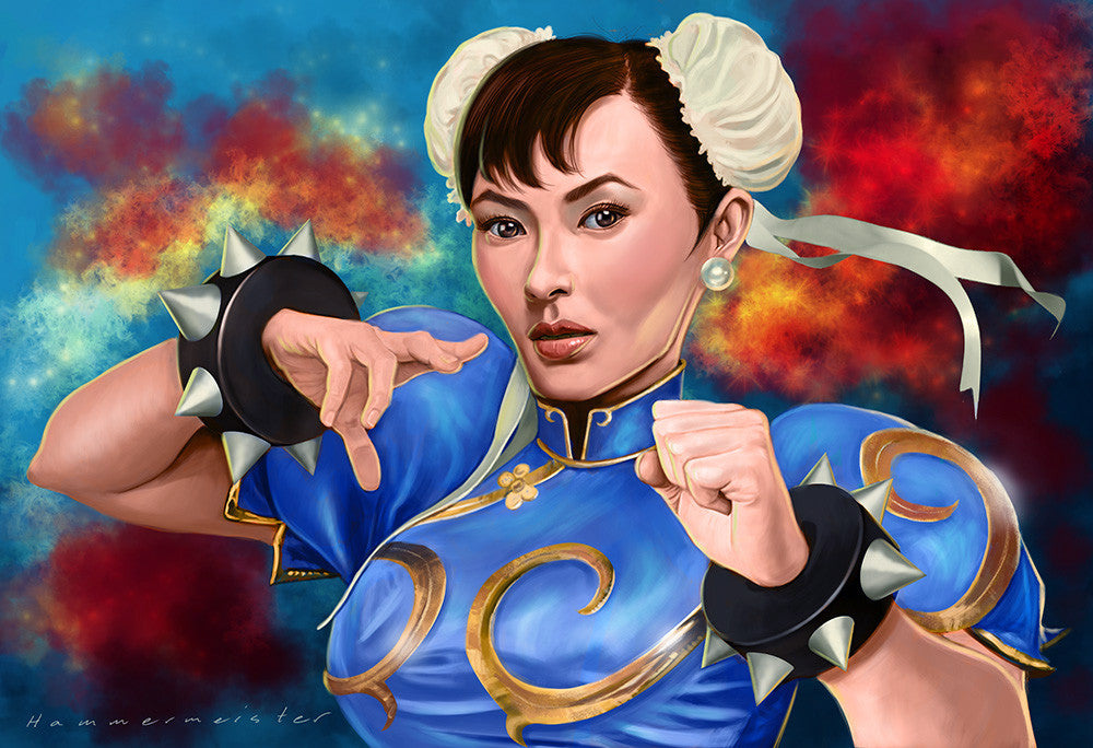 """Chun Li"" by Mark Hammermeister - Hero Complex Gallery"