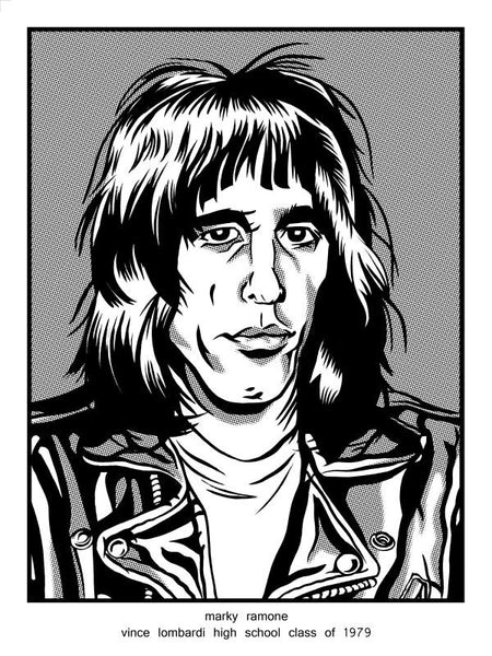 """Marky Ramone Vince Lombardi High School Class of 1979"" by Brian Crabaugh $10.00 - Hero Complex Gallery"