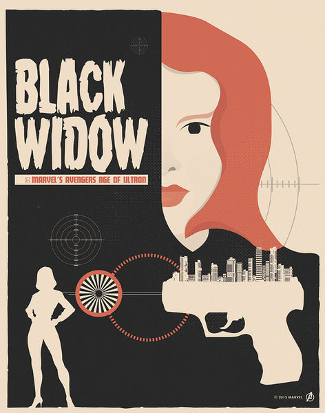 """Black Widow"" by Matt Needle - Hero Complex Gallery"