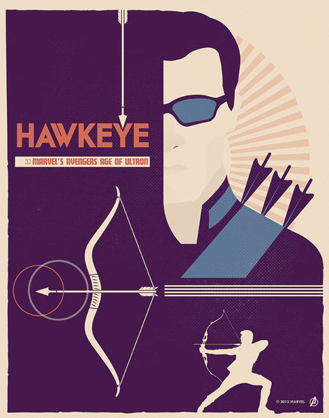 """Hawkeye"" by Matt Needle - Hero Complex Gallery"