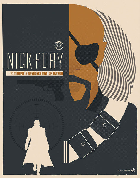 """Nick Fury"" by Matt Needle - Hero Complex Gallery"