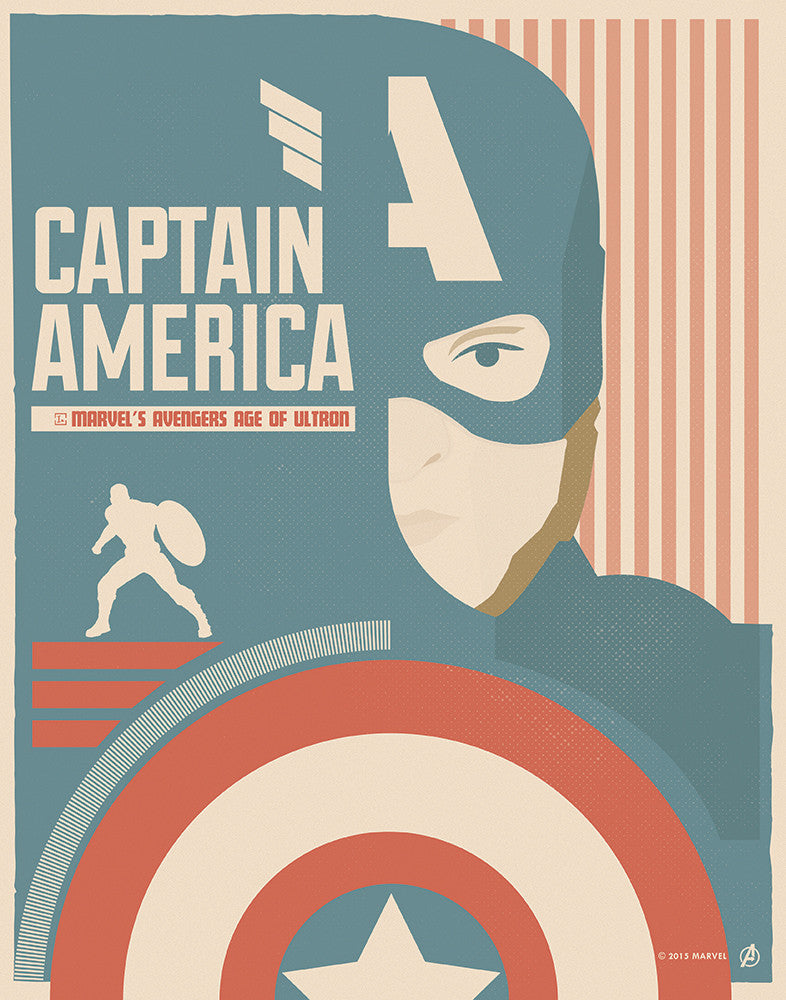 """Captain America"" by Matt Needle - Hero Complex Gallery"