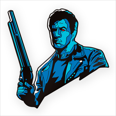 "153. ""Stallone T2"" Pin by Matt Ryan Tobin - Hero Complex Gallery"