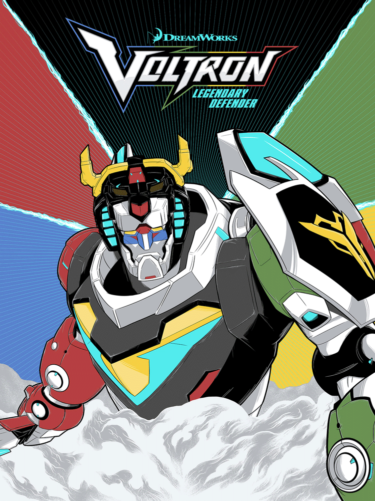 """Voltron: Legendary Defender of the Universe"" Foil Variant by Matthew Johnson - Hero Complex Gallery"