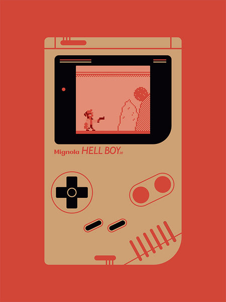 """Hellboy Compact Video Game System (R)"" Red by Matthew Kenyon $100.00 - SOLD OUT - Hero Complex Gallery"