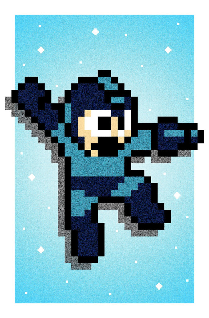 """Mega Man!"" by Lastleaf Printing - Hero Complex Gallery"