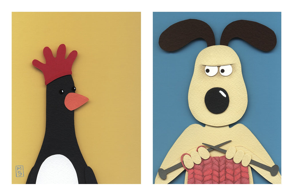 """Gromit Vs. Feathers McGraw"" by Meghan Stratman - Hero Complex Gallery"
