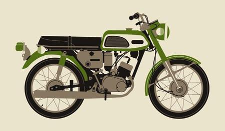 """1970 Green Motorcycle"" by Methane Studios, Inc - Hero Complex Gallery"