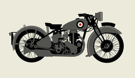 """1930 Gray Motorcycle"" by Methane Studios, Inc"