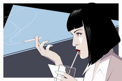Mia Wallace Original by Craig Drake - Hero Complex Gallery