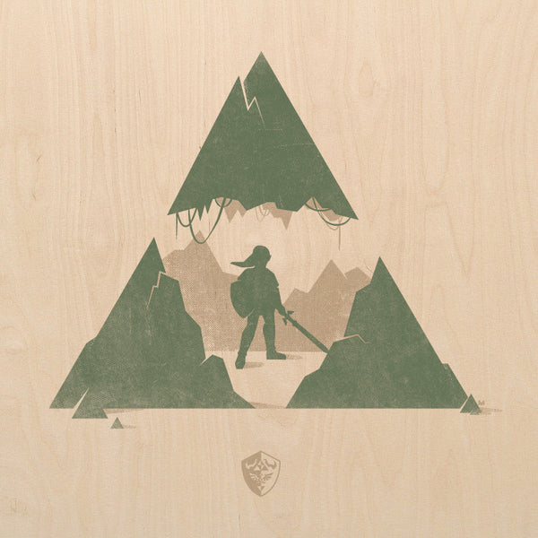 """The Legend of Zelda"" Screen Print on Birch Wood by David Moscati - Hero Complex Gallery"