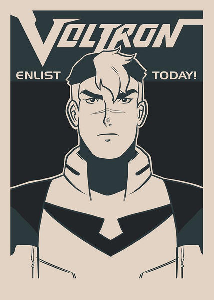 """Enlist Today! – Shiro"" by Nathan J. Anderson - Hero Complex Gallery"