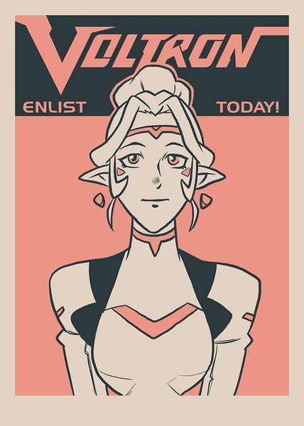 """Enlist Today! – Princess Allura"" by Nathan J. Anderson - Hero Complex Gallery"